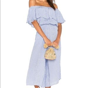 Anthropologie Holiday Blue Jumpsuit  by Cascais